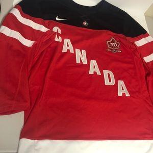 Nike Shirts - Nike Team Canada 100 year anniversary shirt size M